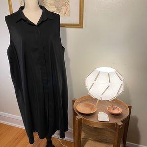 ASOS Sleeveless Hidden Button Black Dress